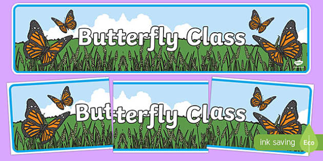 Butterfly Themed Classroom Display Banner - Themed banner, banner, display banner, Classroom labels, Area labels, Poster, Display, Areas