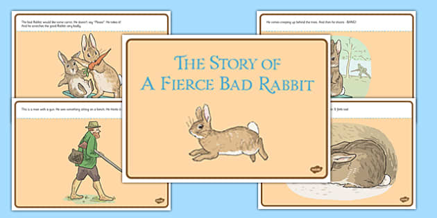 Beatrix Potter - The Story of a Fierce Bad Rabbit Story - beatrix potter, fierce, bad, rabbit