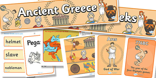 Ancient Greece Display Pack - ancient greece, display pack, display banner, display photos, display, resource pack, display lettering, classroom display