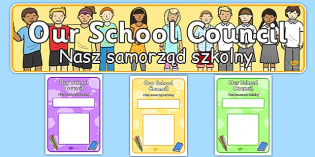 School Council Notice Board Pack Polish Translation - polish, school council, notice board, pack