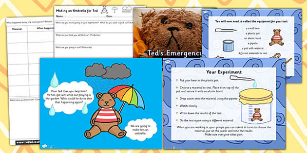 Teds Umbrella Best Material for Special Task Setter Powerpoint