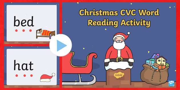 Christmas CVC Words Reading PowerPoint