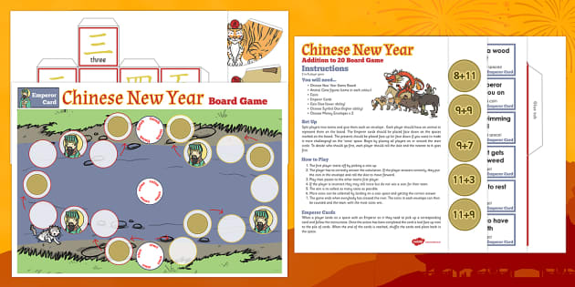 Addition to 20 Chinese New Year Board Game - chinese new year
