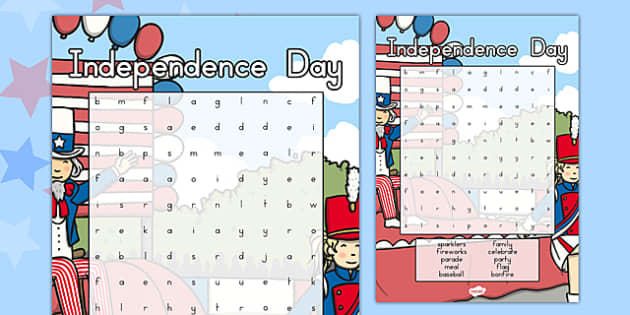 Independence Day Wordsearch - 4th of July Activity, independence, day, wordsearch