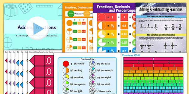 UKS2 Maths Fractions Display Pack
