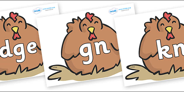 Silent Letters on Chickens - Silent Letters, silent letter, letter blend, consonant, consonants, digraph, trigraph, A-Z letters, literacy, alphabet, letters, alternative sounds
