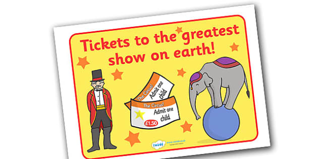 The Circus Ticket Booth Display Sign - circus, ticket, clown, juggler, word card, flashcards, cards, acrobats, big top, magician, monkey, ring master, trapeze, horse, elephant, lion tamer, stilts, sea lion