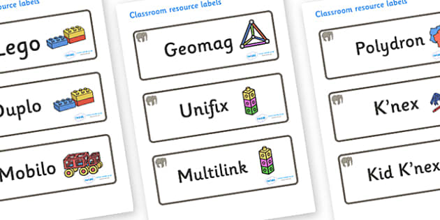 Elephant Themed Editable Construction Area Resource Labels - Themed Construction resource labels, Label template, Resource Label, Name Labels, Editable Labels, Drawer Labels, KS1 Labels, Foundation Labels, Foundation Stage Labels