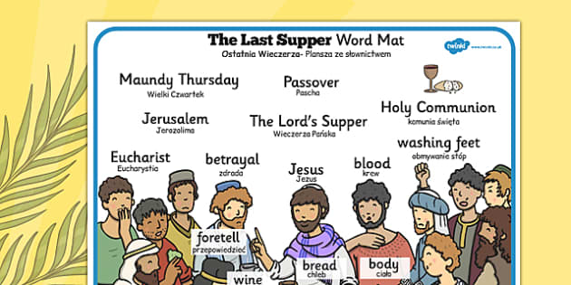 The Last Supper Word Mat Polish Translation - polish, christianity, religion, Easter, words