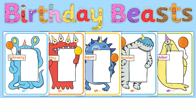 Birthday Beasts Display Pack