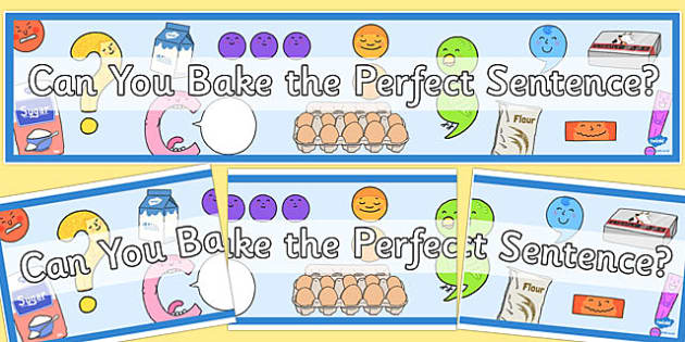 Can You Bake the Perfect Sentence? Display Banner - display, banner
