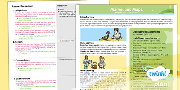 PlanIt - Geography Year 5 - Marvellous Maps Planning Overview