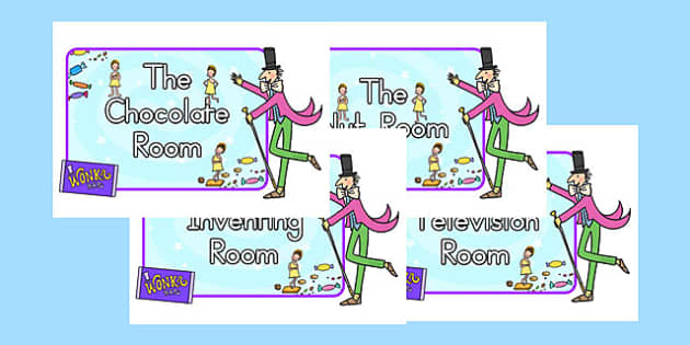Role-Play Signs to Support Teaching on Charlie and the Chocolate Factory - australia
