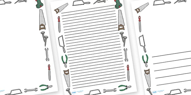 Design and Technology Tools Page Borders - design, technology,tools, tool, D&T, design and technology, page border, border, writing template, writing aid, writing, scissors, stapler, paint, pencil, brushes, IT, computer, designing, information, creat