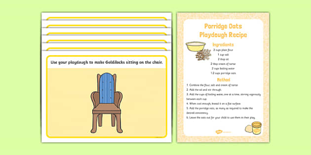 Goldilocks and the Three Bears Playdough Recipe and Mat Pack