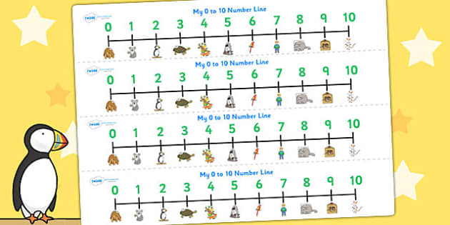 Number Lines 0-10 to Support Teaching on The Great Pet Sale - numbers, counting, count