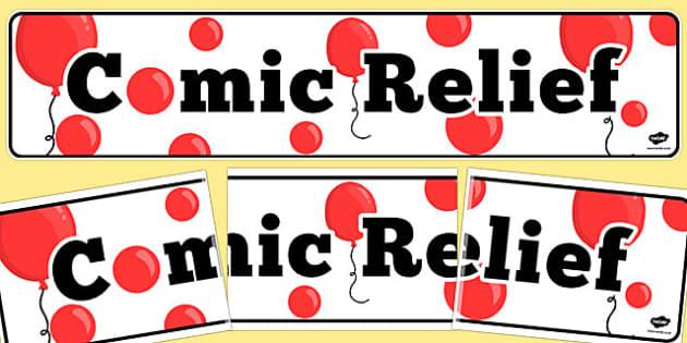 Comic Relief Display Banner - comic relief, display, banner
