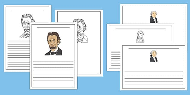 Presidents' Day Writing Templates Pack - presidents day, usa, writing templates