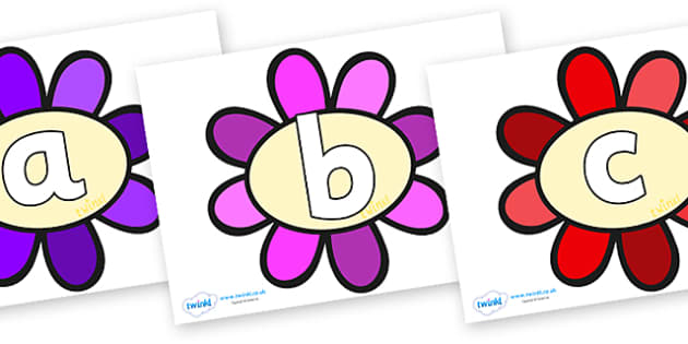 Phoneme Set on Flowers - Phoneme set, phonemes, phoneme, Letters and Sounds, DfES, display, Phase 1, Phase 2, Phase 3, Phase 5, Foundation, Literacy