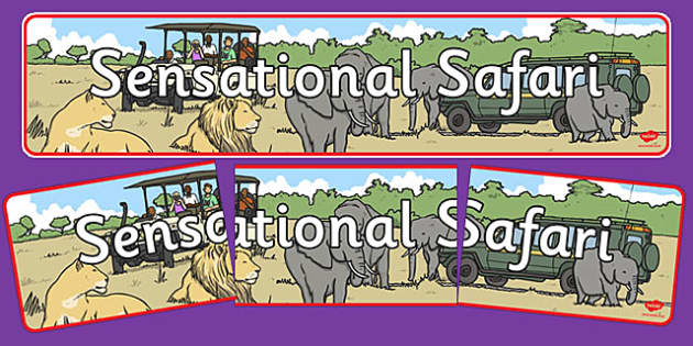 Sensational Safari Display Banner - sensational, safari, display banner