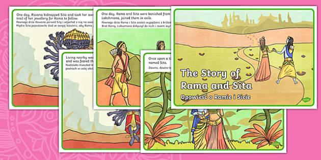 The Story of Rama and Sita Story English/Polish