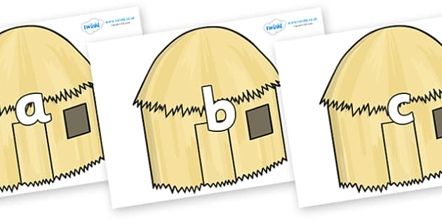 Phase 2 Phonemes on Straw houses - Phonemes, phoneme, Phase 2, Phase two, Foundation, Literacy, Letters and Sounds, DfES, display