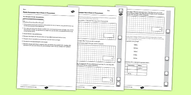 Year 6 Maths Assessment Term 3 Measurement -maths, ks2, sats, units, capacity, distance, quantity