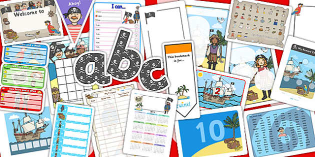 Pirate Themed EYFS KS1 Classroom Set Up Pack - transition