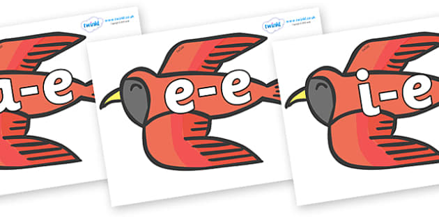 Modifying E Letters on Red Bird to Support Teaching on Brown Bear, Brown Bear - Modifying E, letters, modify, Phase 5, Phase five, alternative spellings for phonemes, DfES letters and Sounds