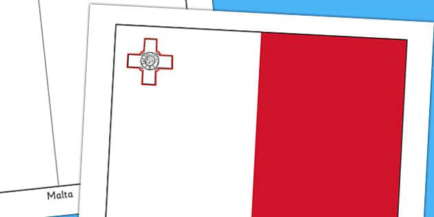 Malta Flag Display Poster - geography, countries, display