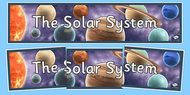 Solar System Display Banner - solar system, display, banner, sign, poster, solar, system, pluto, venus, planets, mercury, planet