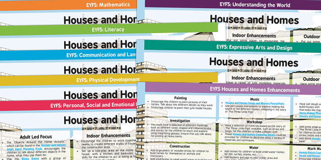 EYFS Houses and Homes Lesson Plan and Enhancement Ideas - houses and homes, lesson plan, lesson plan ideas, lesson ideas, lesson planning, teaching plan, EYFS, EYFS ideas
