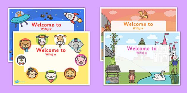 Editable Welcome Signs Polish Translation - polish, editable, welcome signs, welcome, signs