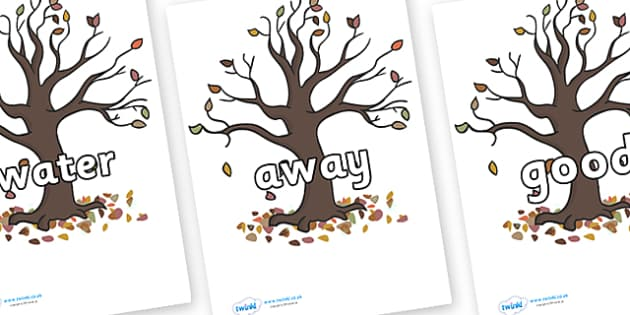 Next 200 Common Words on Autumn Trees - Next 200 Common Words on  - DfES Letters and Sounds, Letters and Sounds, Letters and sounds words, Common words, 200 common words