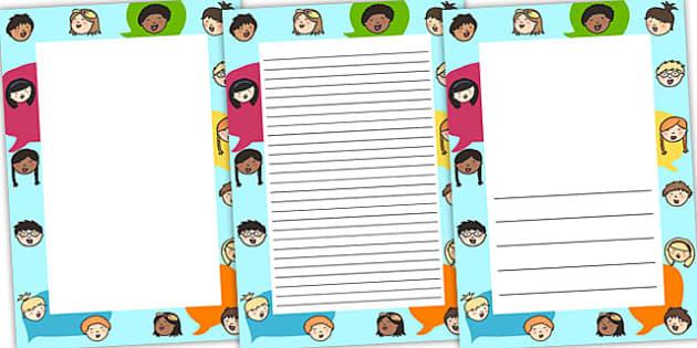 English Speaking Page Borders - english, speak, borders, literacy