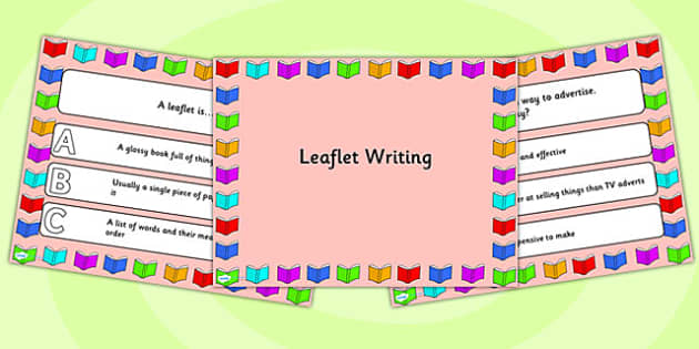 Leaflet Writing PowerPoint Quiz - leaflet, writing, powerpoint