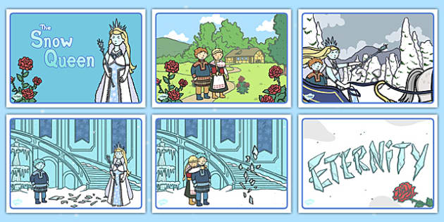 The Snow Queen Short Story Sequencing - snow queen, sequencing