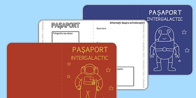 Pasaport Intergalactic, Fisa - scriere, spatiu, descriere