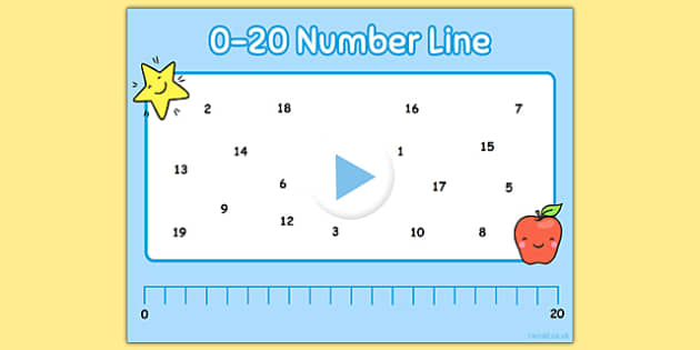 0-20 Number Line Notebook - 0-20, number line, notebook, numberline, maths, numeracy, interactive, iwb