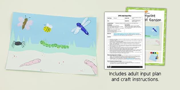 Fingerprint Minibeast Garden EYFS Adult Input Plan and Resource Pack