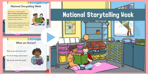 National Storytelling Week 2017 Assembly PowerPoint - National Storytelling Week, 2016, assembly, school, storytelling, week