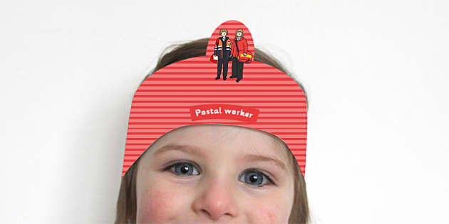 Postal Worker Headband - Postal Worker, role play, post, pretending, jobs, headband