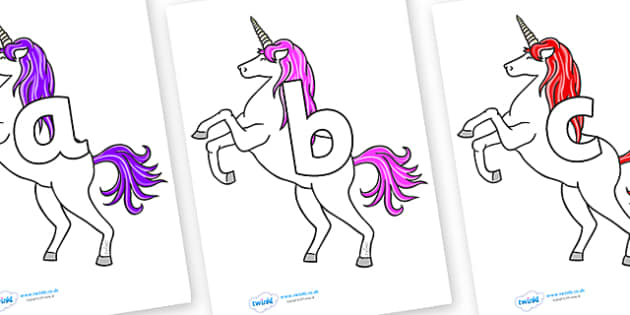 Phoneme Set on Unicorn - Phoneme set, phonemes, phoneme, Letters and Sounds, DfES, display, Phase 1, Phase 2, Phase 3, Phase 5, Foundation, Literacy