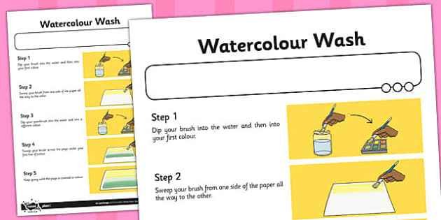 Activity Sheet Watercolour Wash - activity, watercolour, wash, worksheet