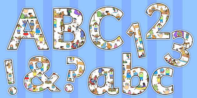 Nursery Rhyme Themed Display Lettering Pack - nursery rhyme, early years, rhymes, poems, traditional, stories, literacy, reading
