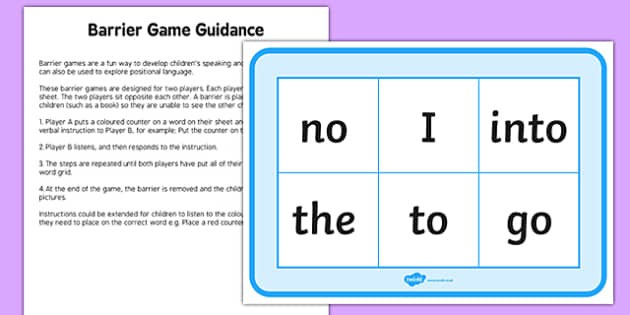 Phase 2 Tricky Words Counters Barrier Game Activity Sheet, worksheet