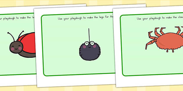 Minibeast Playdough Mat - fine motor skills, mini beasts, games