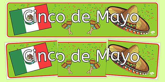 Cinco de Mayo Display Banner - usa, america, cinco de mayo, display banner, display, banner