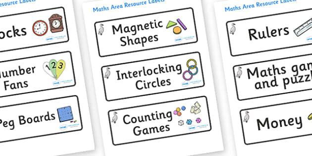 Cygnet Themed Editable Maths Area Resource Labels - Themed maths resource labels, maths area resources, Label template, Resource Label, Name Labels, Editable Labels, Drawer Labels, KS1 Labels, Foundation Labels, Foundation Stage Labels, Teaching Labe