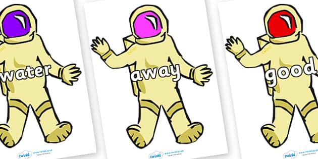 Next 200 Common Words on Astronauts - Next 200 Common Words on  - DfES Letters and Sounds, Letters and Sounds, Letters and sounds words, Common words, 200 common words